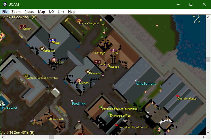 GUIDE - UO Automap for UO Outlands | ULTIMA ONLINE OUTLANDS
