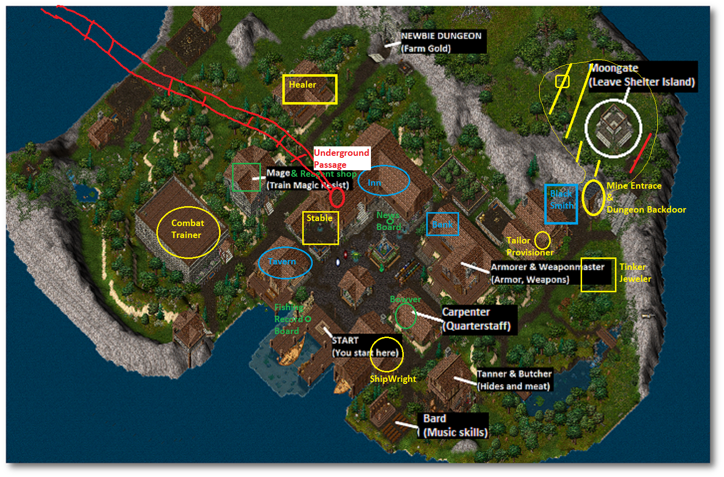GUIDE - OU Outlands' Towns' Shop Layout maps (!Updated) | ULTIMA